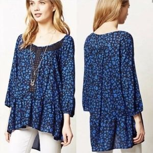 Blue Ressica Tunic by Anthropologie's HD in Paris